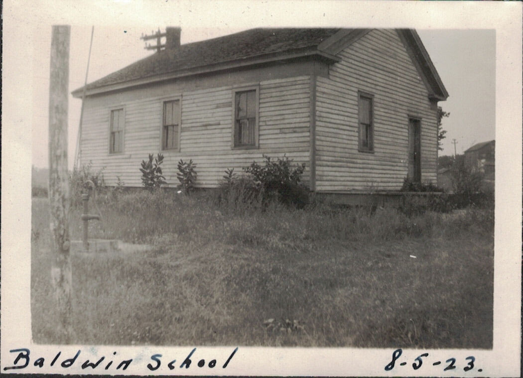 Old Baldwin School building, June 1923