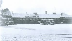The Coon Chicken Inn's racist imagery began with the front door which was located in the middle of a smiling grin of a caricatured black porter