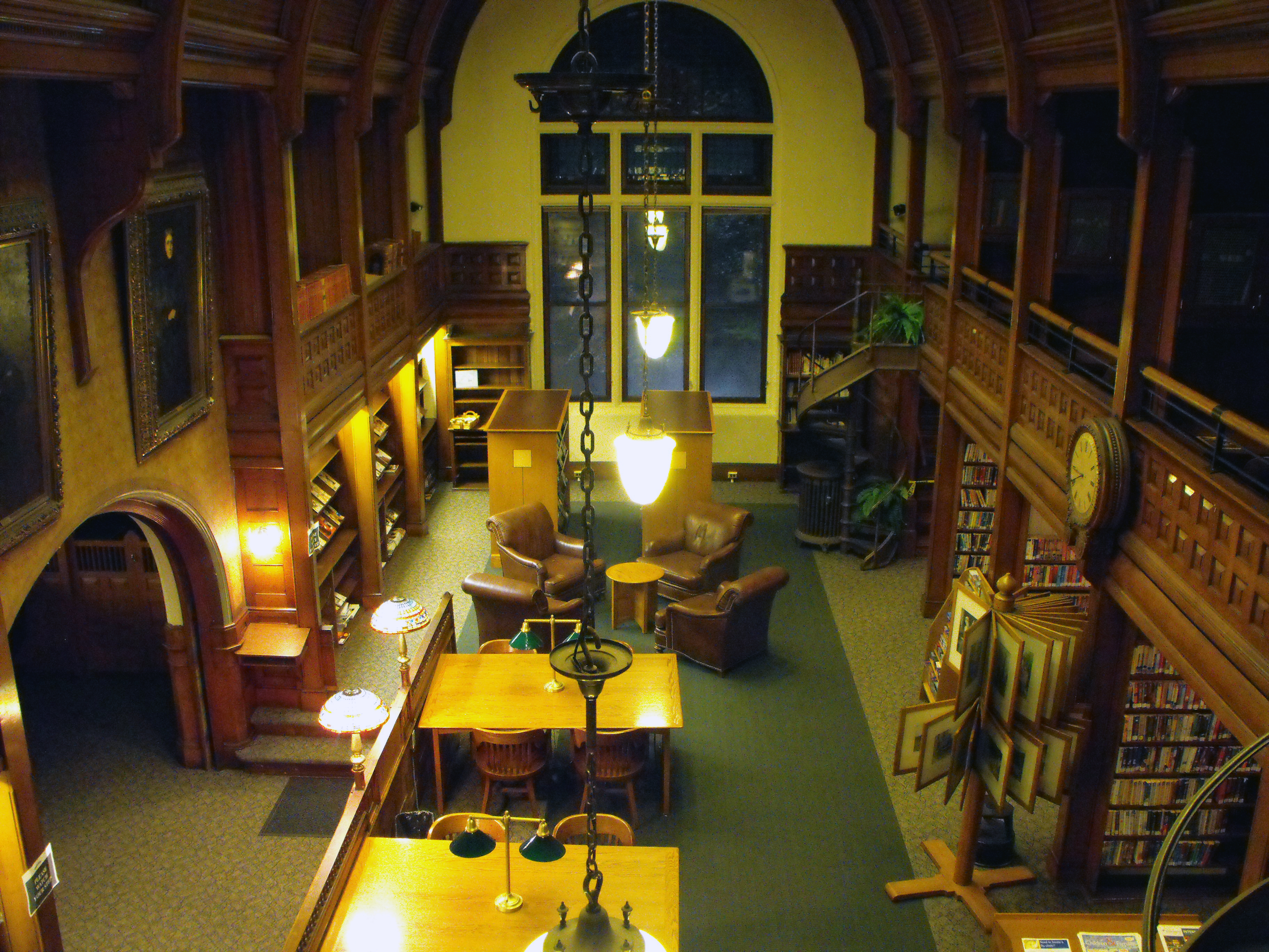 The interior of the original library building, now primarily study space.