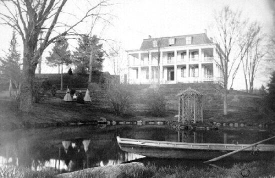 "A view of the pond, once referred to as ""Little Conneaut"""