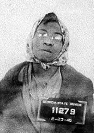 This is the mugshot taken of Lena Baker at Georgia State Prison on February 23, 1945.