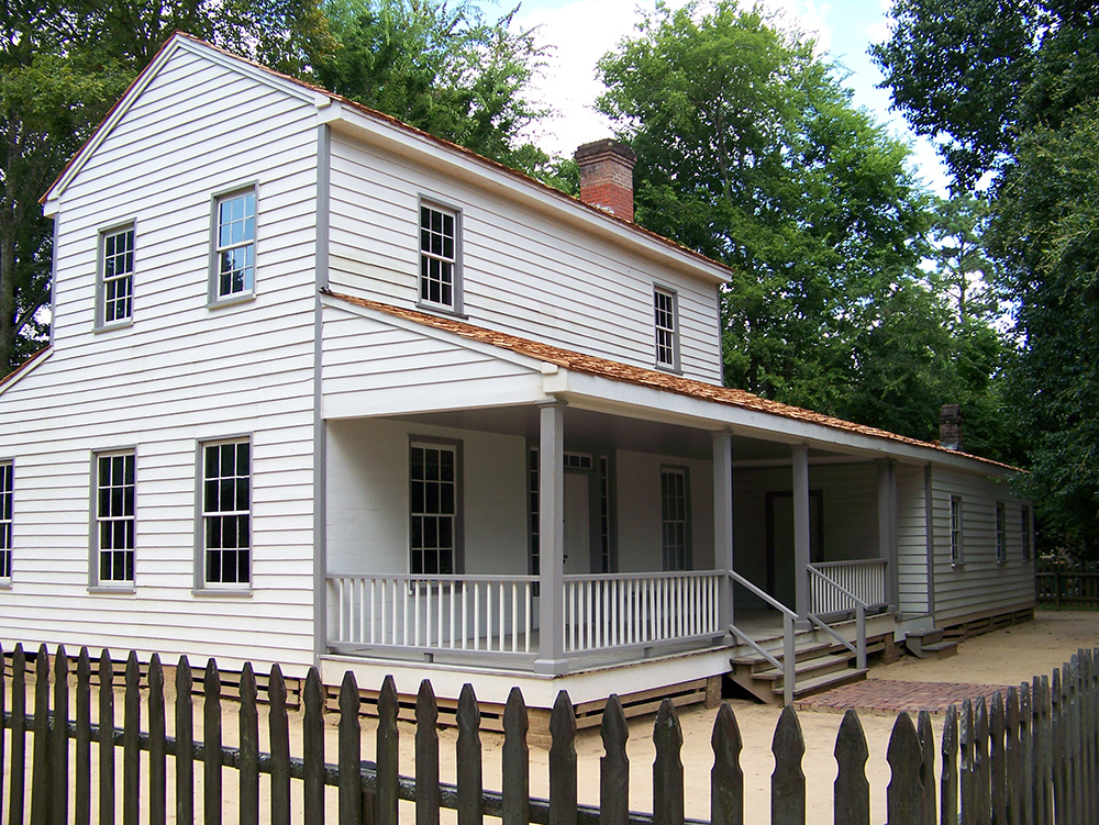 The John Jay French Trading House was built in 1845 and was an important economic hub for the surrounding area.