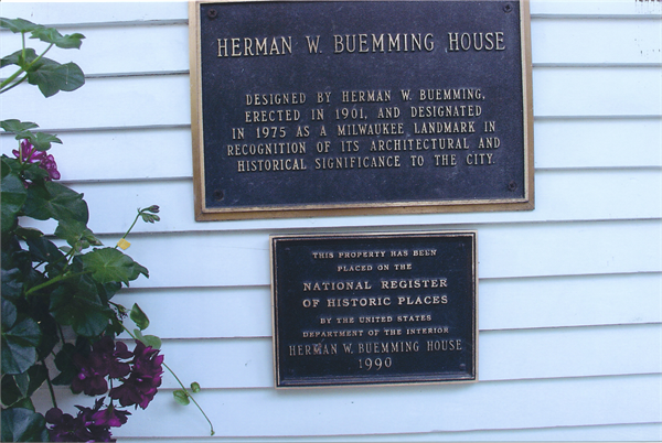 Historical Marker on the house