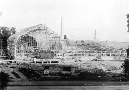 Krohn Conservatory during construction circa 1932