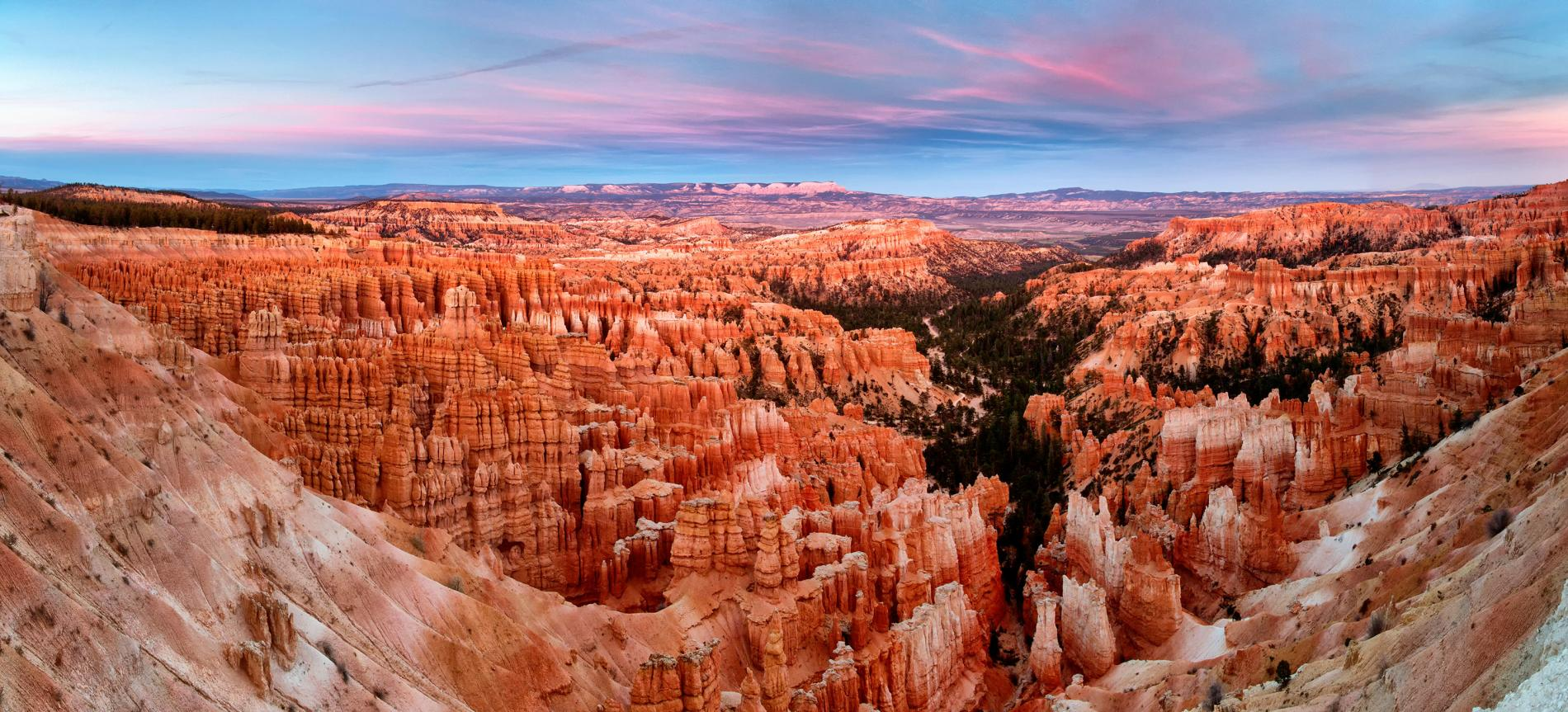 Bryce Canyon National Park features these strange rock formations that have formed over millions of years.