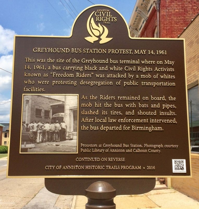 This historical marker was dedicated in 2016