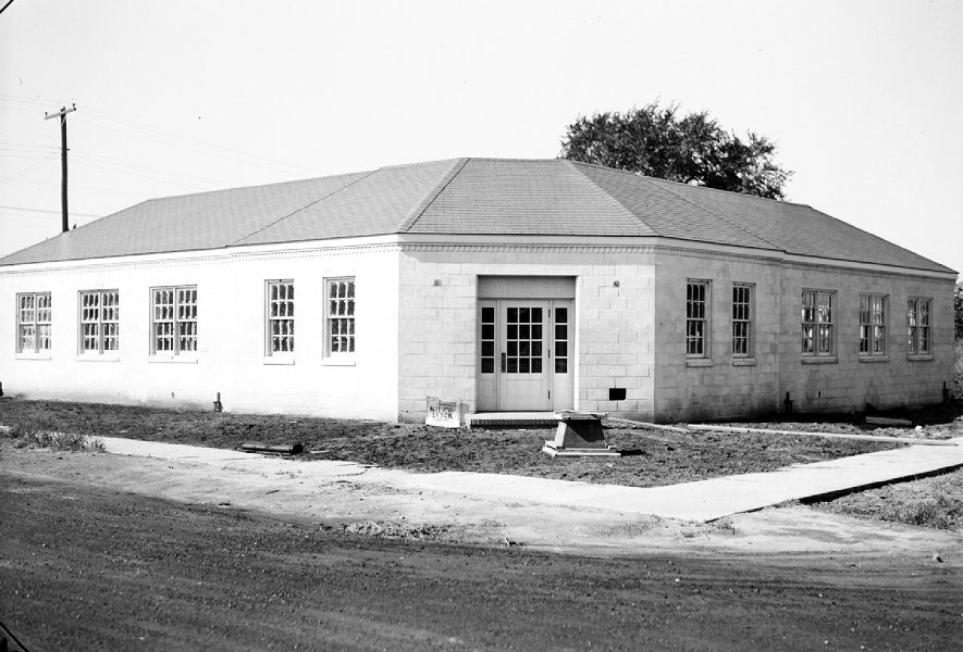 Hazel Park Library as constructed, 1940.