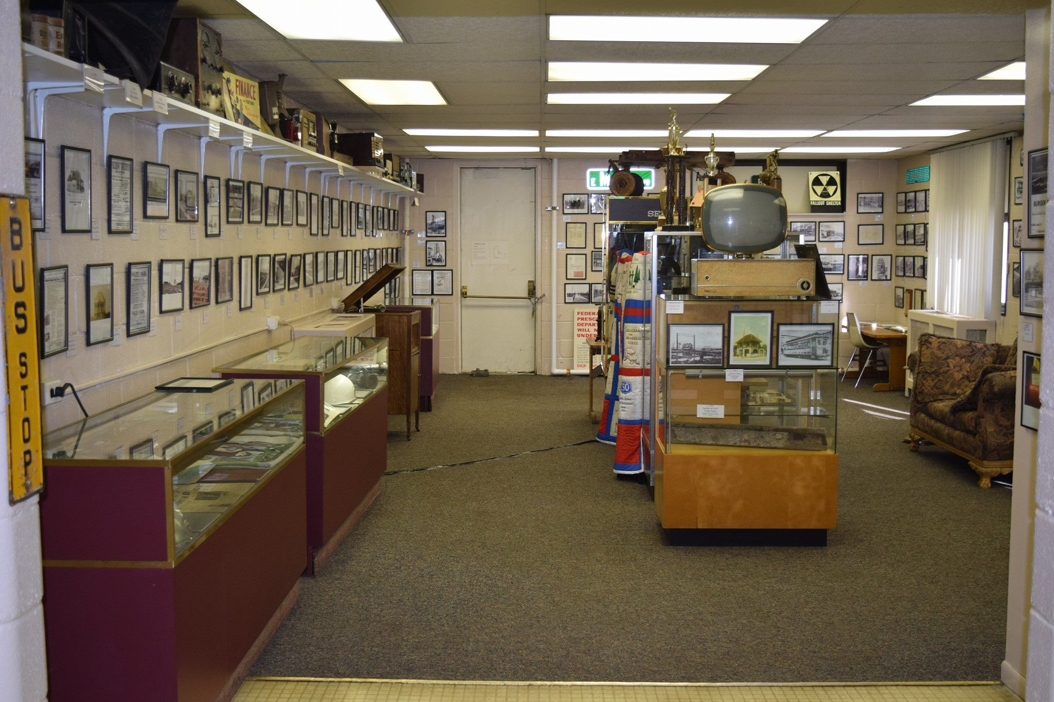 Interior view of the Hazel Park Historical Museum.