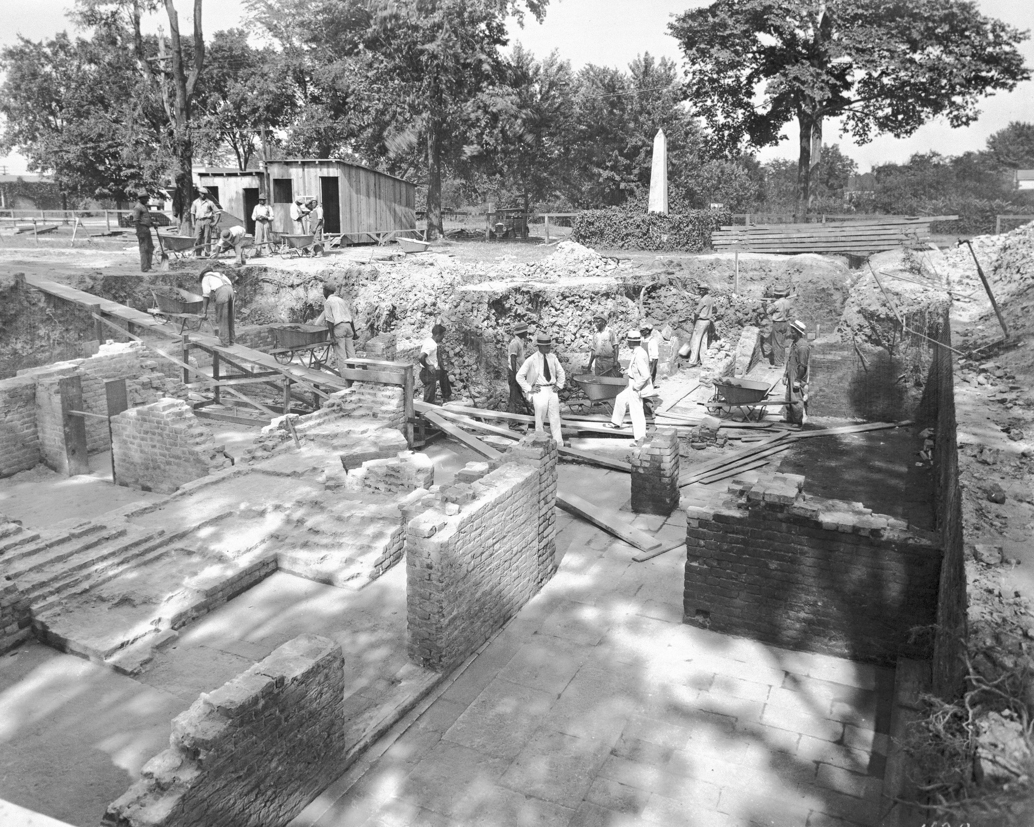 Archaeologists uncovered the remains of the Palace's foundation as well as many artifacts in 1930. Image obtained from the Daily Press.