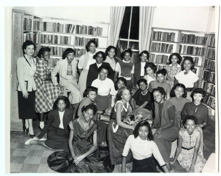 Debutantes at the Richard B. Harrison library, 1952
