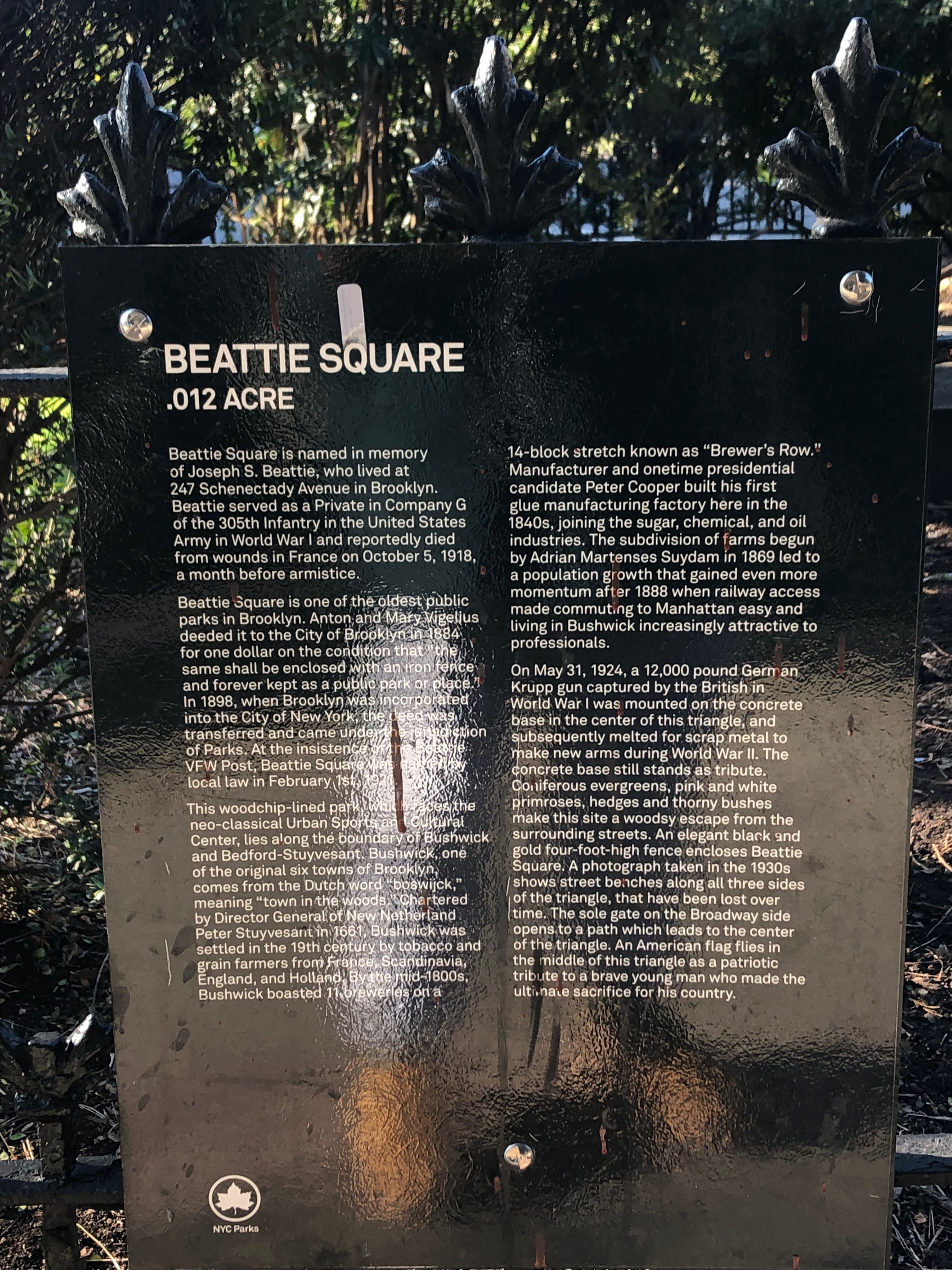 Beattie Square description.