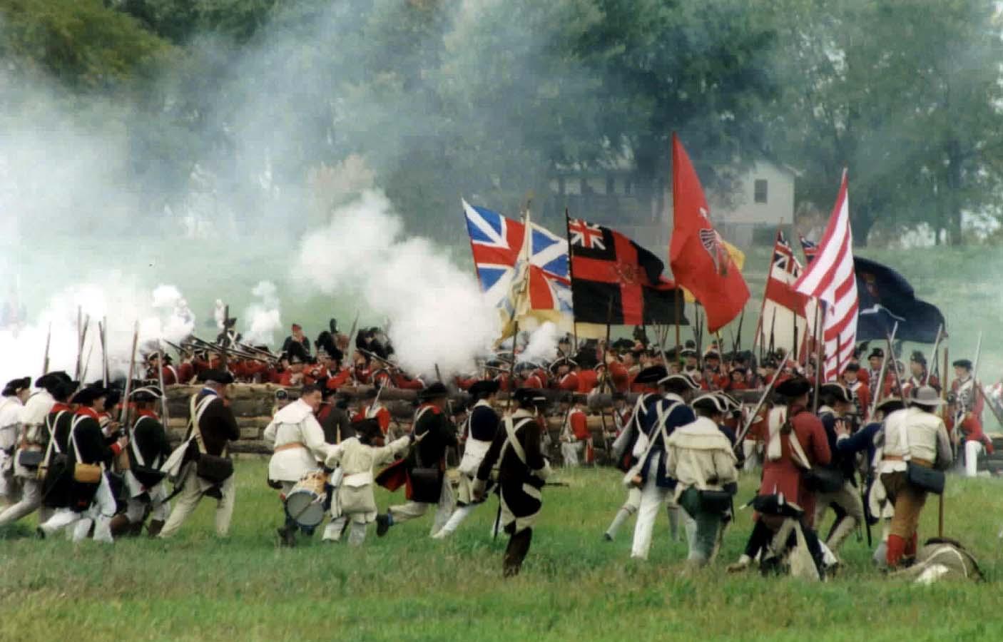 A reenactment of the battle