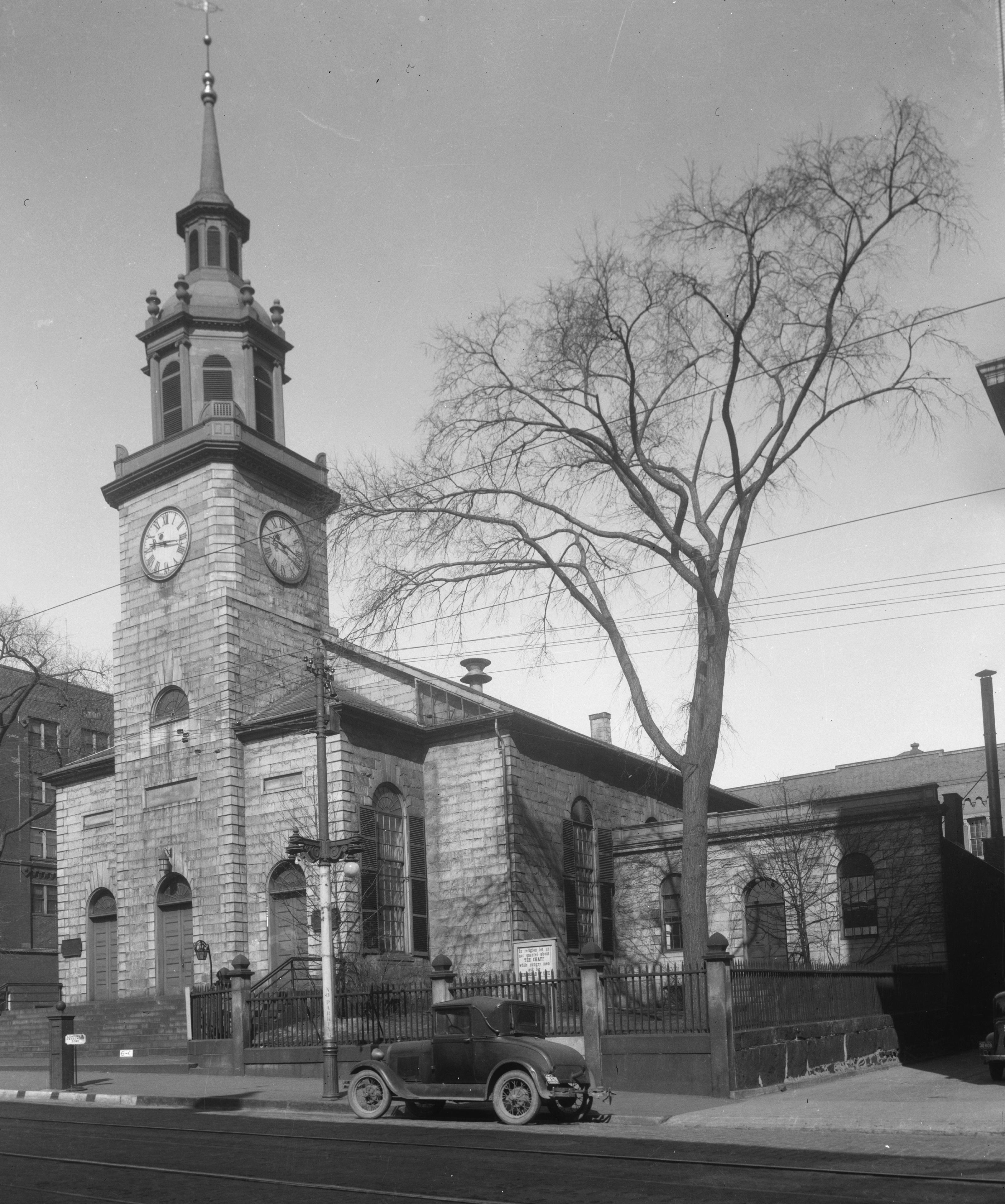 Photo of the Church in April of 1936, Photograph by Allen L. Hubbard, Credit to Library of Congress, Prints & Photographs Division, ME,3-PORT,3-7