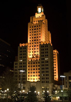 Superman Building at Night