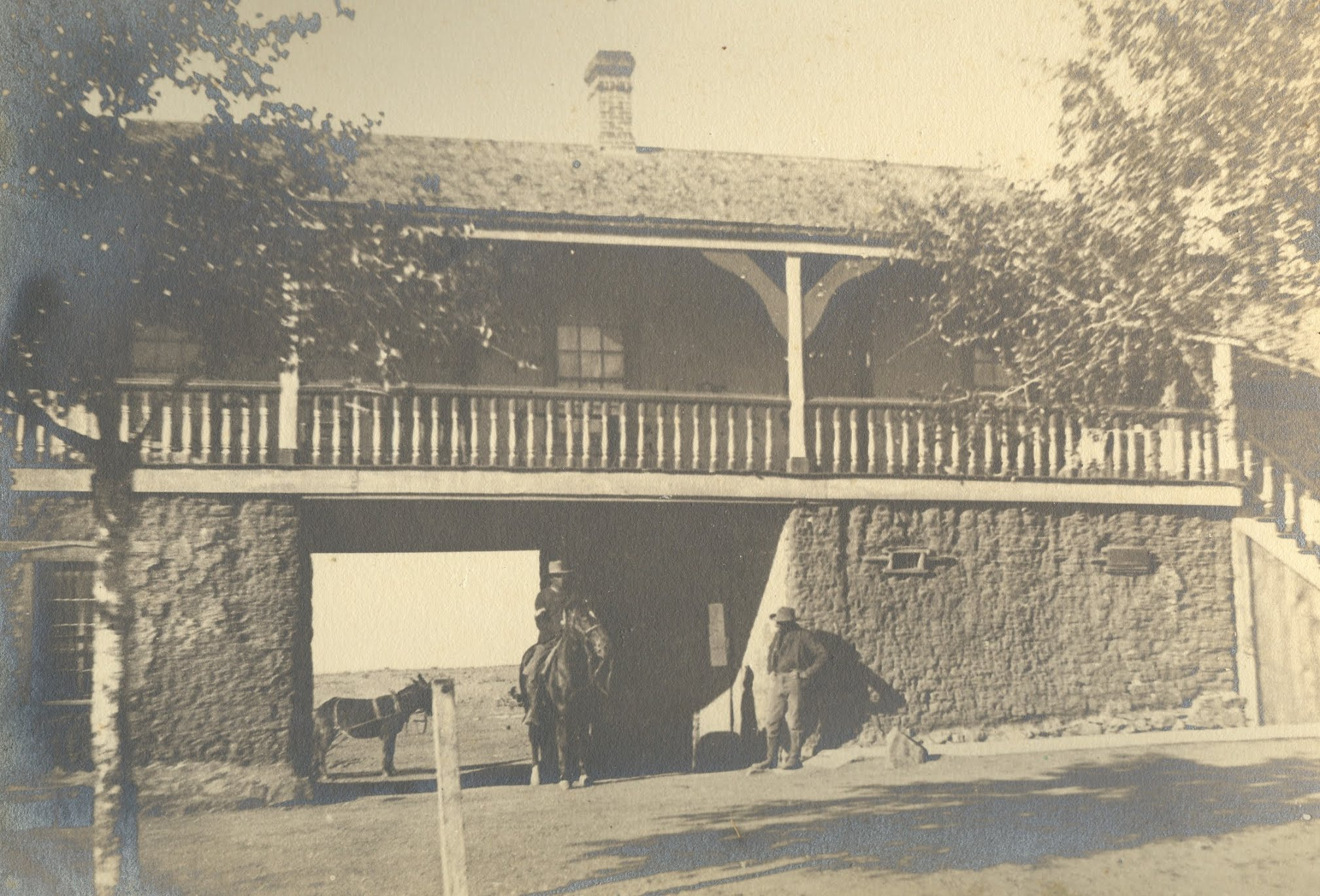 Sally Port at Fort Bayard in the 1880s, looking south from the Parade Ground