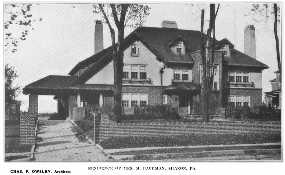 Photo from circa 1912 of the Minnie Bachman Mansion shortly after completion.