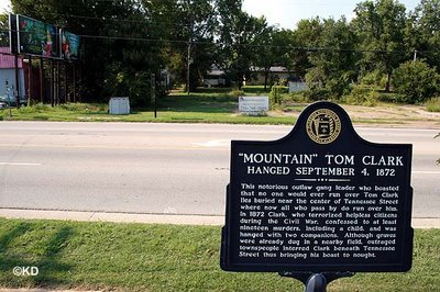 'Mountain' Tom Clark Historical Marker