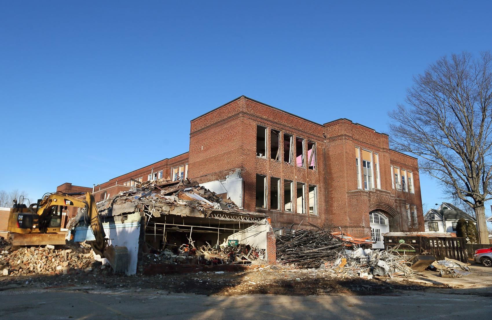 Demolition of Enslow Middle School