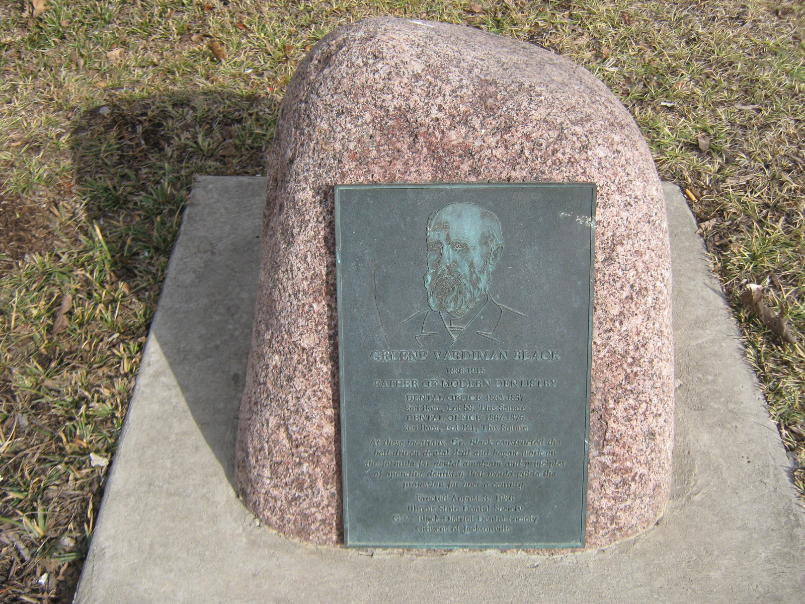 The marker is located on the south side of the square.
