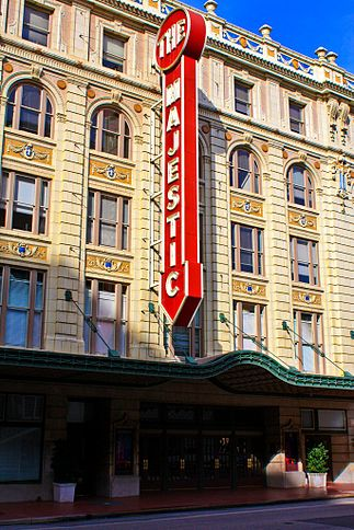 The Majestic Theatre opened in 1921 and was added to the National Register of Historic Places in 1977.