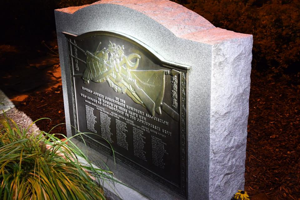 The monument honors 92 of the men who fought on behalf of the Confederacy. The monument was created in 1948.