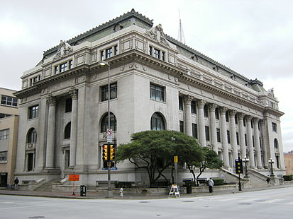The Dallas Municipal Building was built in 1914 and is an excellent example of Beau Arts architecture. The adjoining addition was built in 1956.