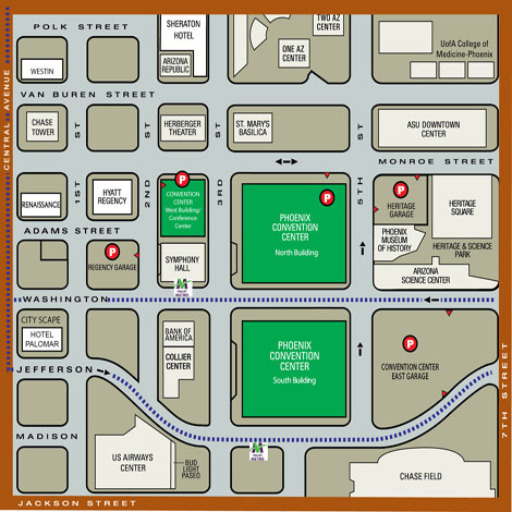Map of Phoenix Convention Center & Venues. (phoenix.gov)
