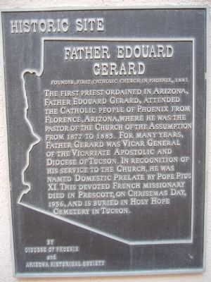 Historic Marker for Father Edouard Gerard.