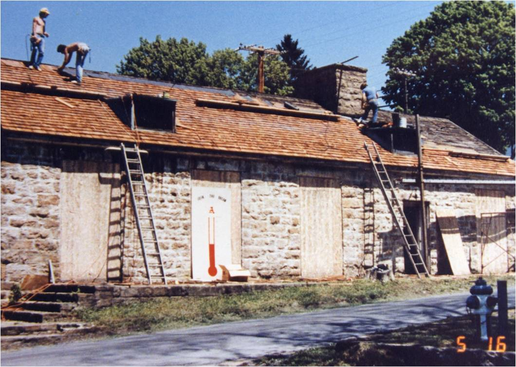 Admin During Restoration in the late 1980s