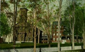 A postcard depicting the Theological Seminary in the early 1900s, public domain photo provided by Wikimedia Foundation