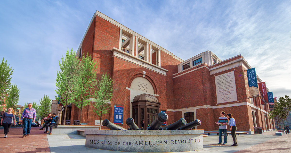 Philadelphia's Museum of the American Revolution opened on the anniversary of the Battles of Lexington and Concord on April 19, 2017.