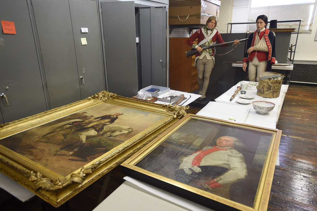 Pieces of revolutionary artwork and period re-enactors (or are they figurines?) behind the scenes at the museum.