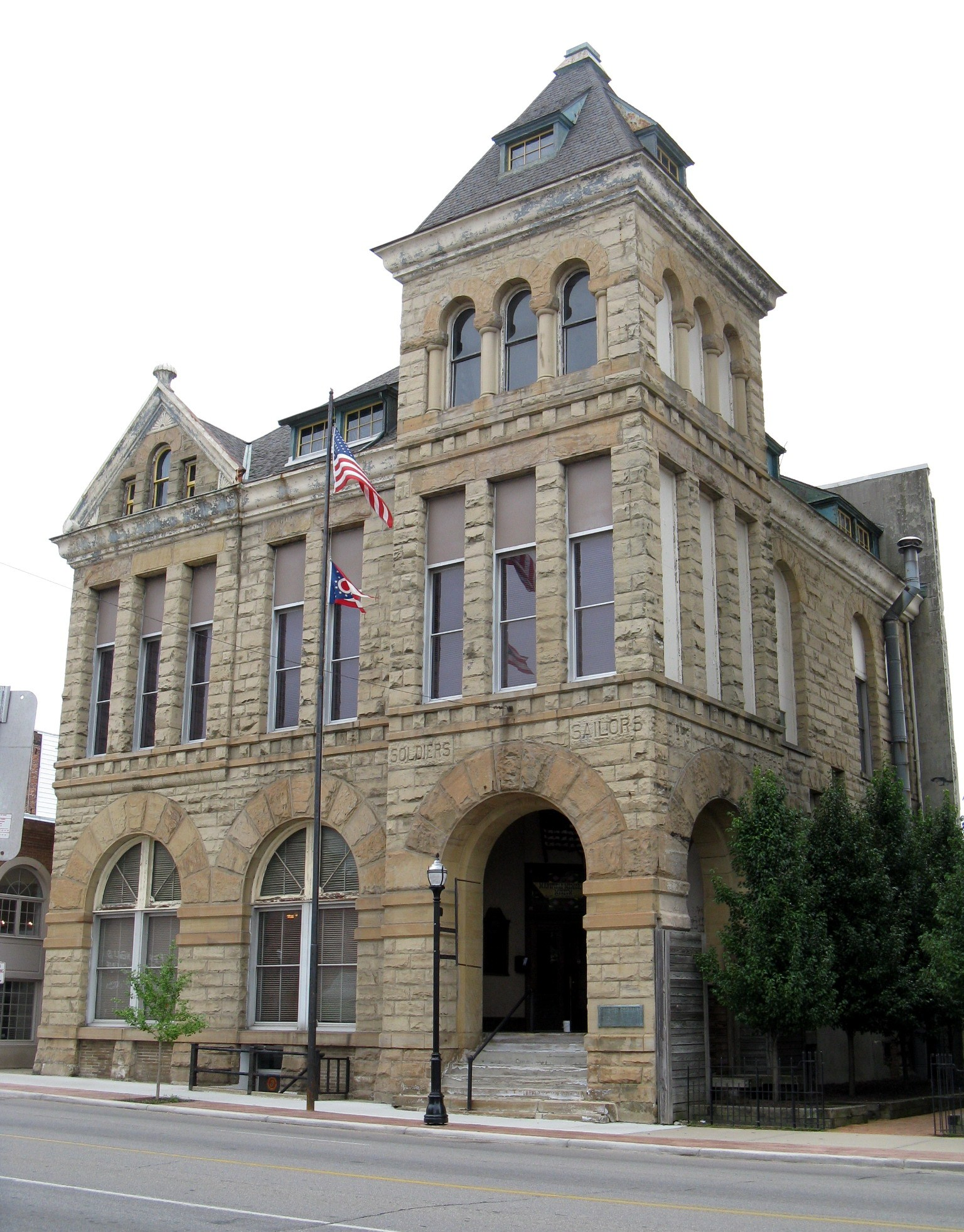 The Soldiers and Sailors Memorial Building, home of the Mansfield Memorial Museum