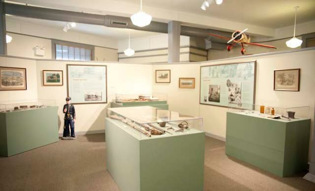 Some of the exhibits at the Crossroads Museum