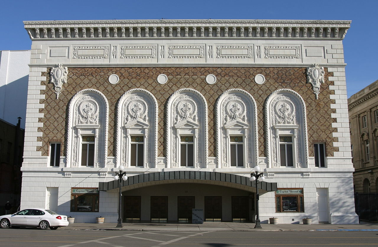 Capitol Theatre was built in 1920. It is a fine example of Italian Renaissance architecture.