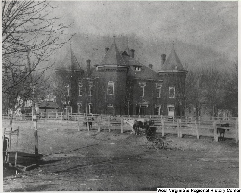 Courthouse ca. 1900. Photo from WVU Archives.