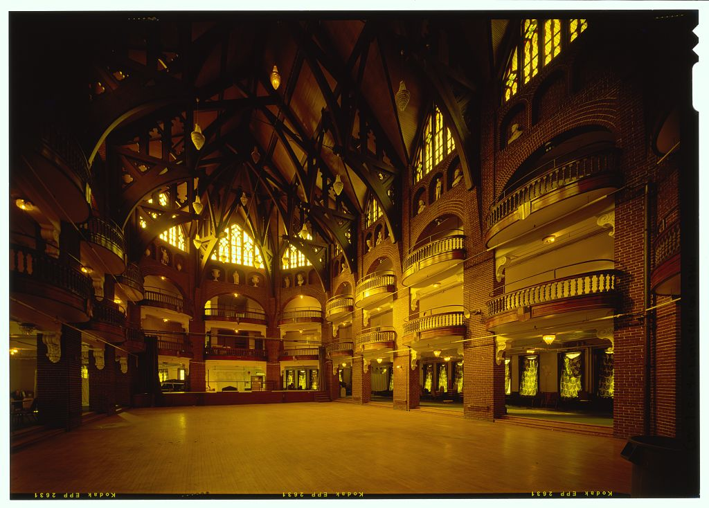 Ballroom at National Park Seminary, HABS, Library of Congress (public domain)