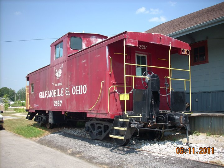 The Rails and Trails Museum is housed in the historic Gulf, Mobile & Ohio Depot.