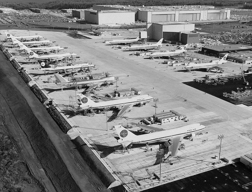 The initial task of the Everett plant: producing the 747.
