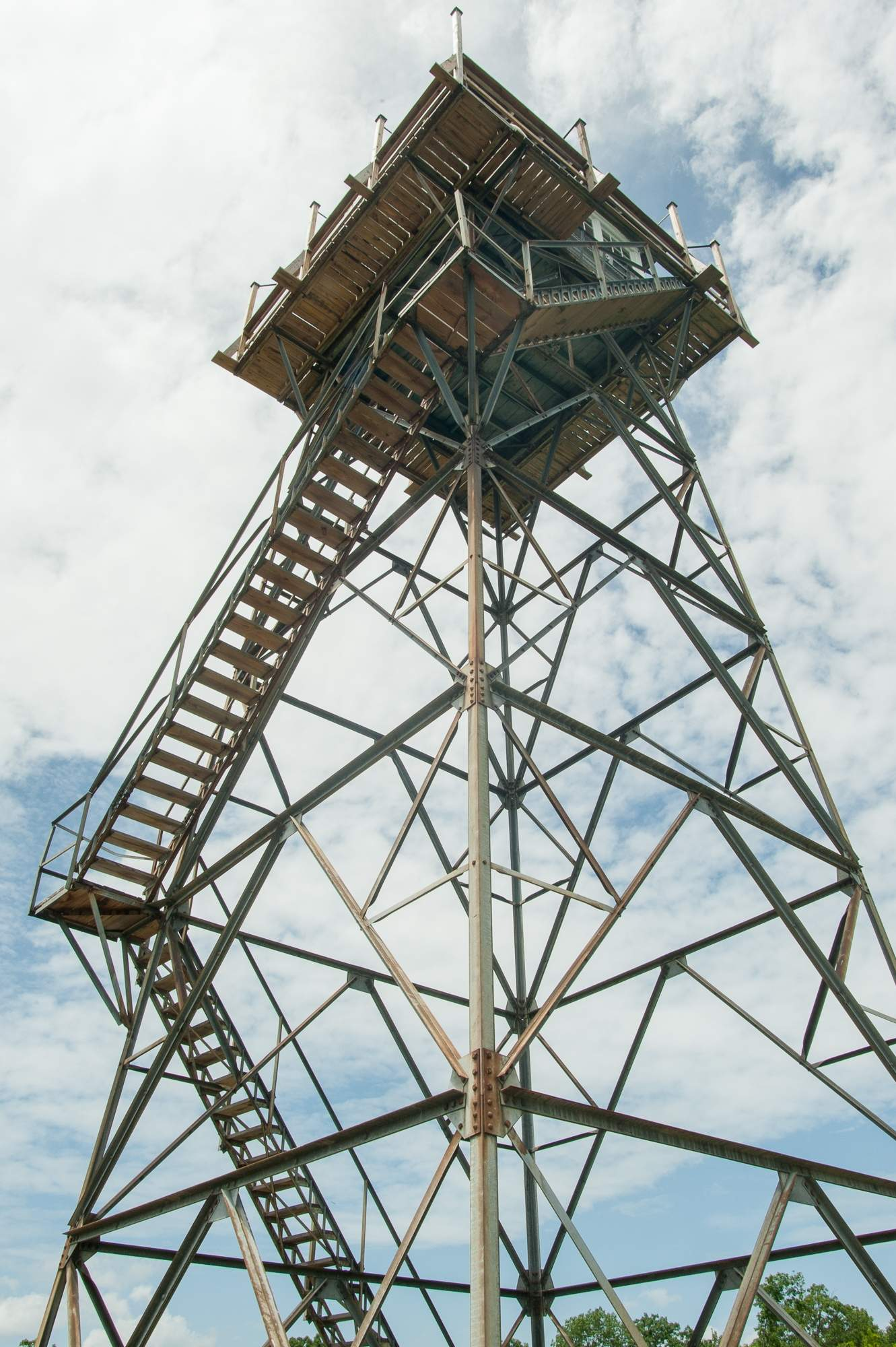 View from the ground of Thorny Mountain Fire Tower.