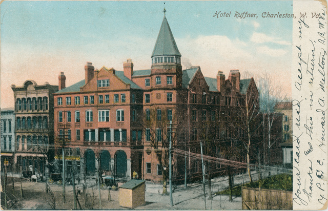 The original Ruffner Hotel, built in 1885 after the Hale House was destroyed by fire.