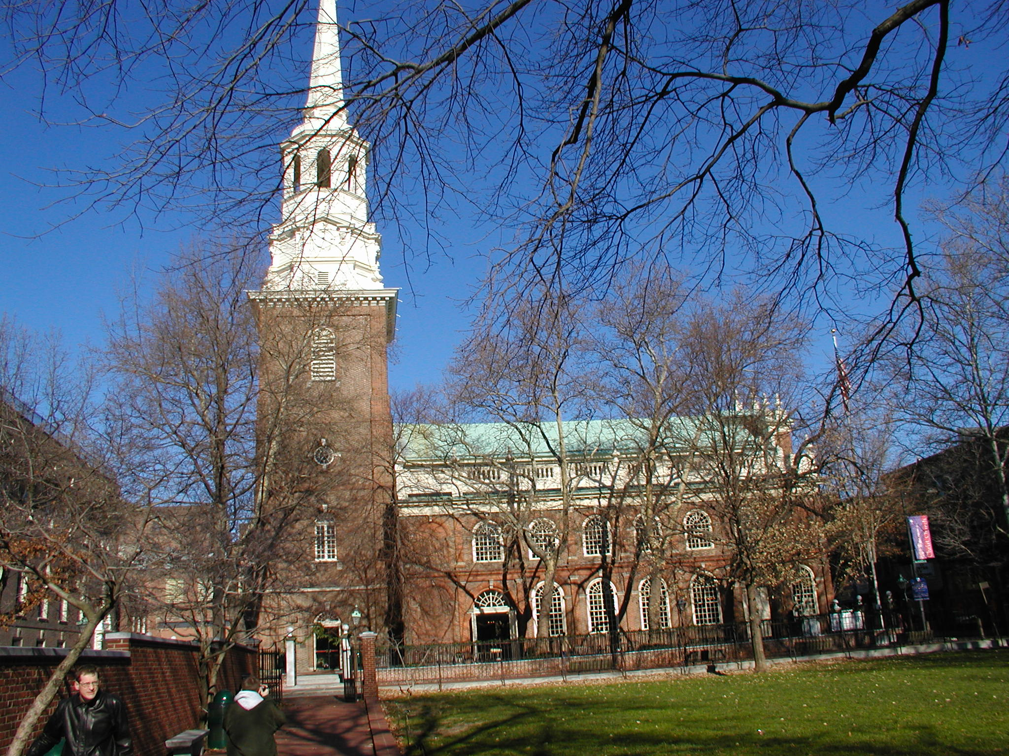 A view of Christ Church and its iconic spire which was the tallest structure in North America from 1754-1810.