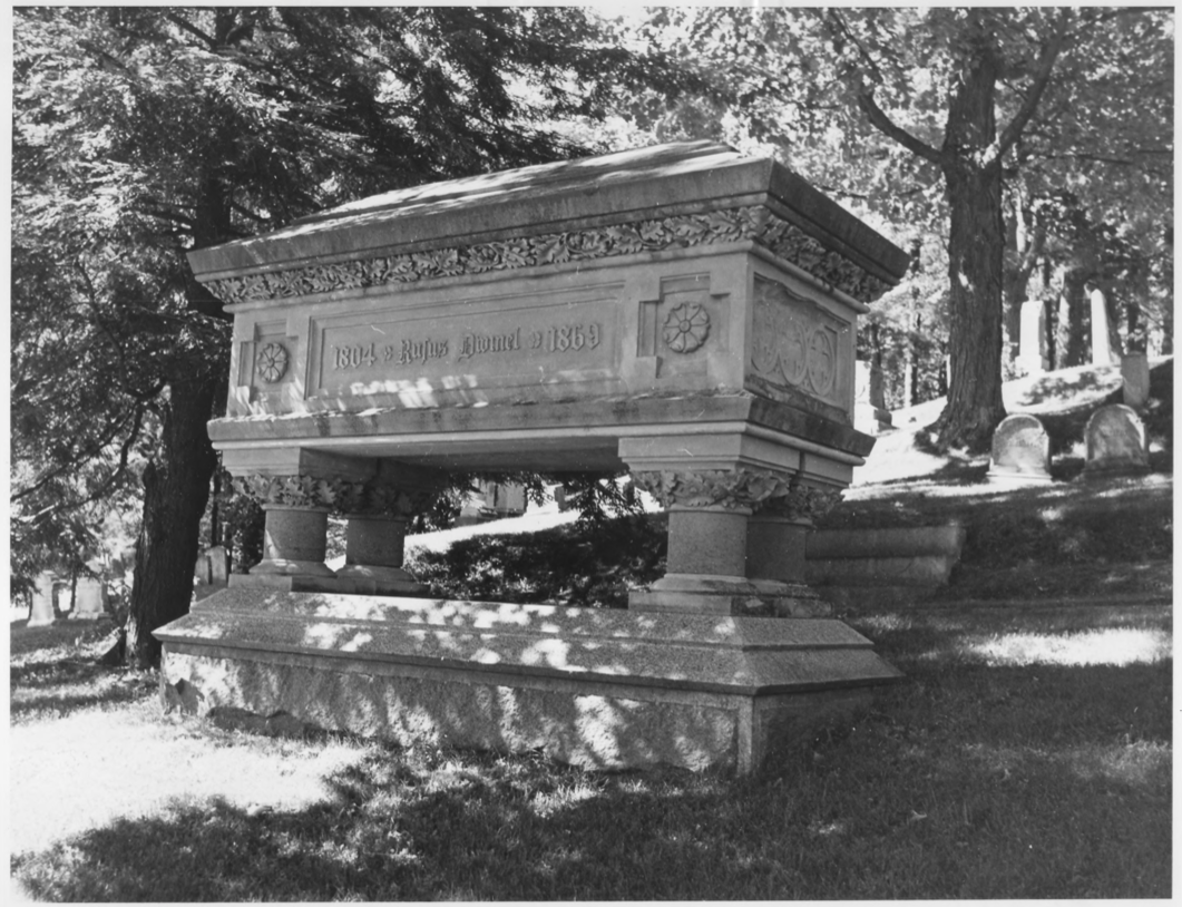 Grave of Rufus Dwinel by Earle G. Shettleworth, Jr. on 8/20/74, Public Domain Photo Provided by NPS
