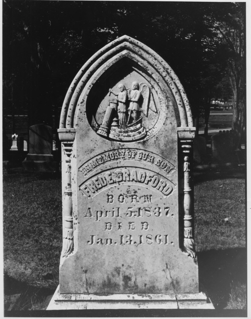 The Grave of Fred E. Bradford by Earle G. Shettleworth, Jr. on 8/20/74, Public Domain Photo Provided by NPS