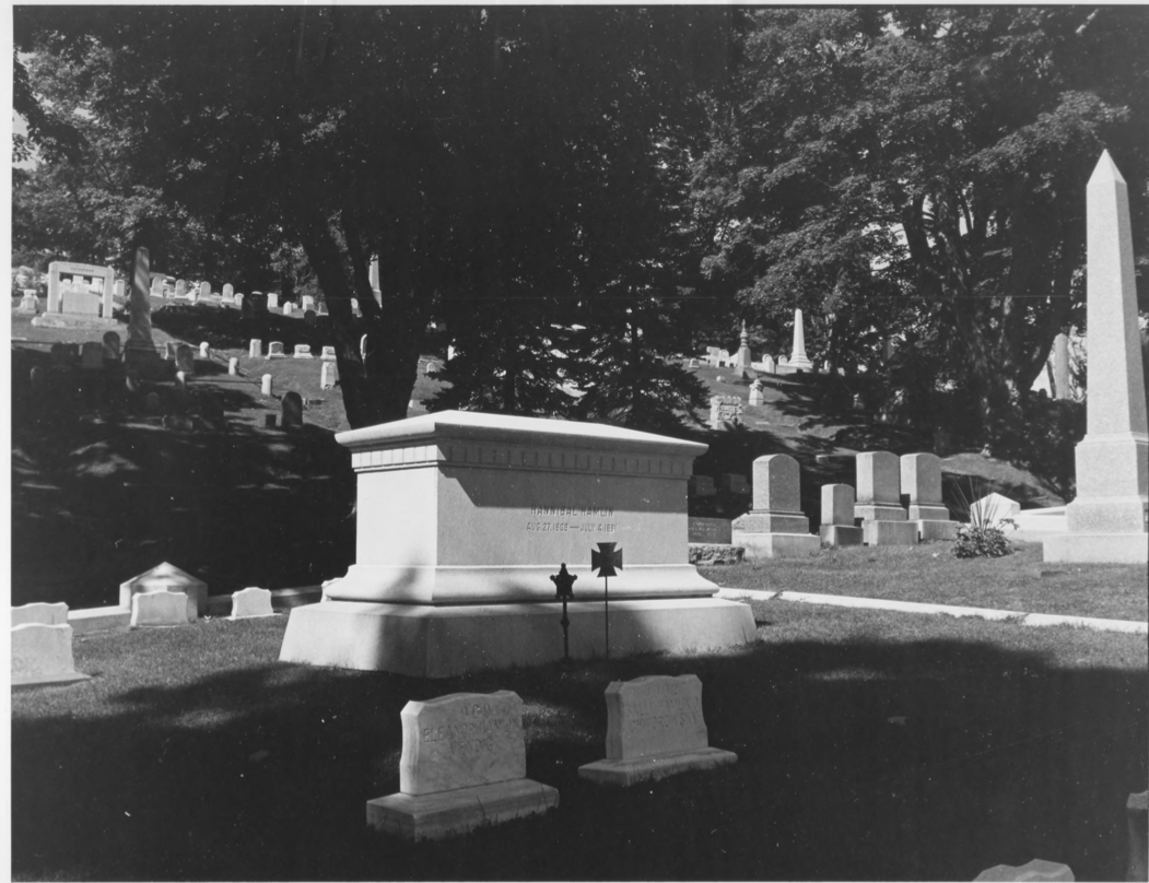 Grave of U.S. Vice President Hannibal Hamlin by Earle G. Shettleworth, Jr. on 8/20/74, Public Domain Photo Provided by NPS