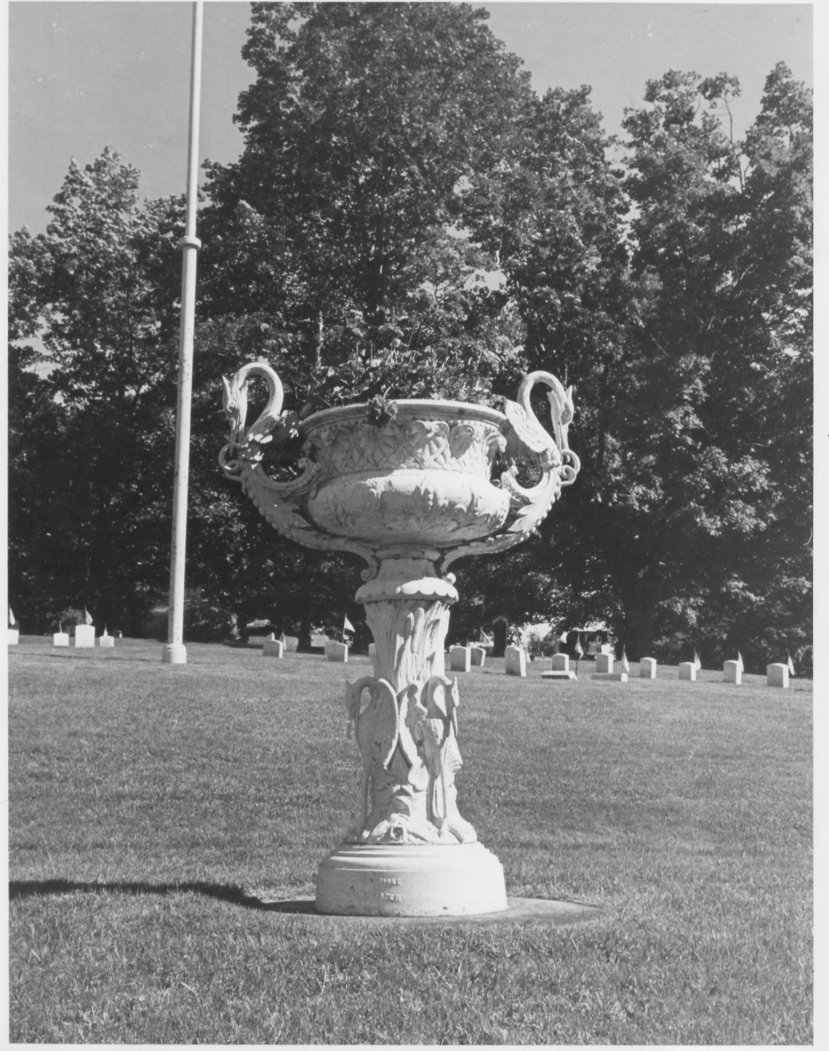 Memorial Urn Within the Grounds by Earle G. Shettleworth, Jr. on 8/20/74, Public Domain Photo Provided by NPS