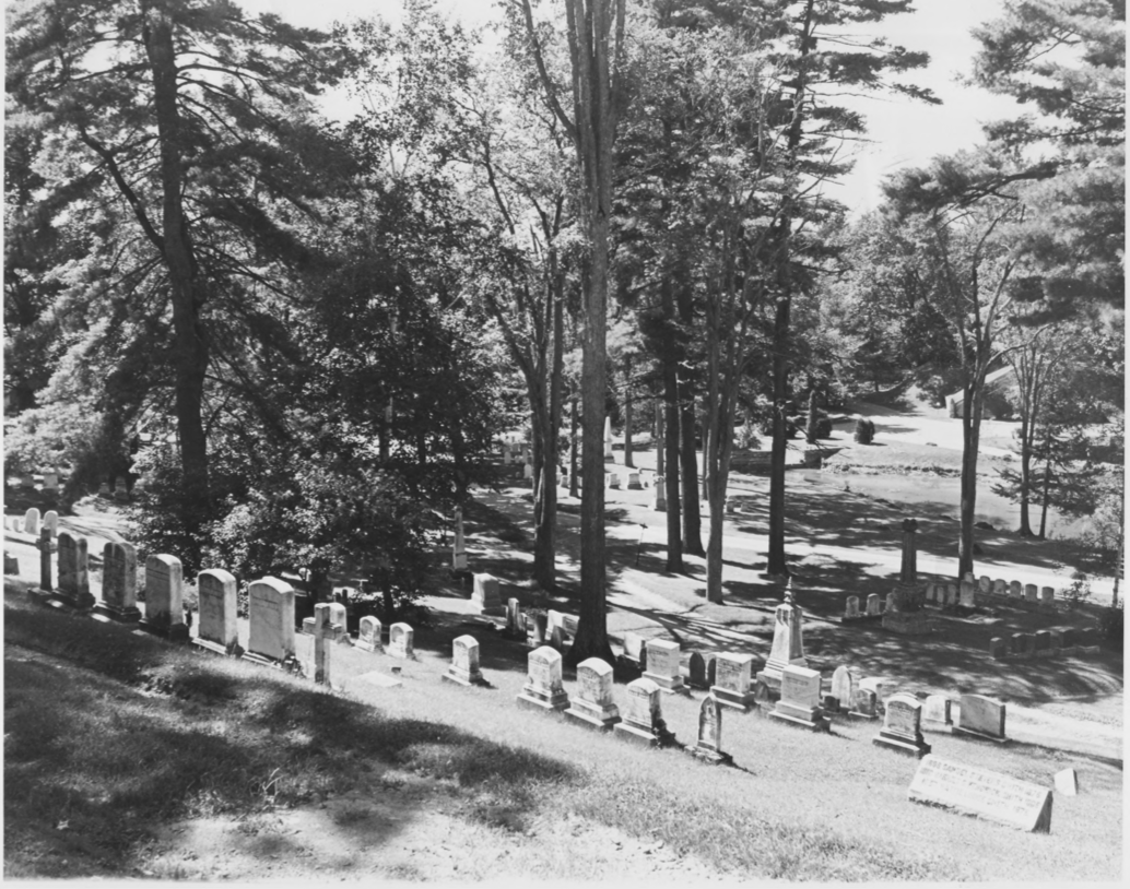 The Northwest Cemetery Grounds by Earle G. Shettleworth, Jr. on 8/20/74, Public Domain Photo Provided by NPS
