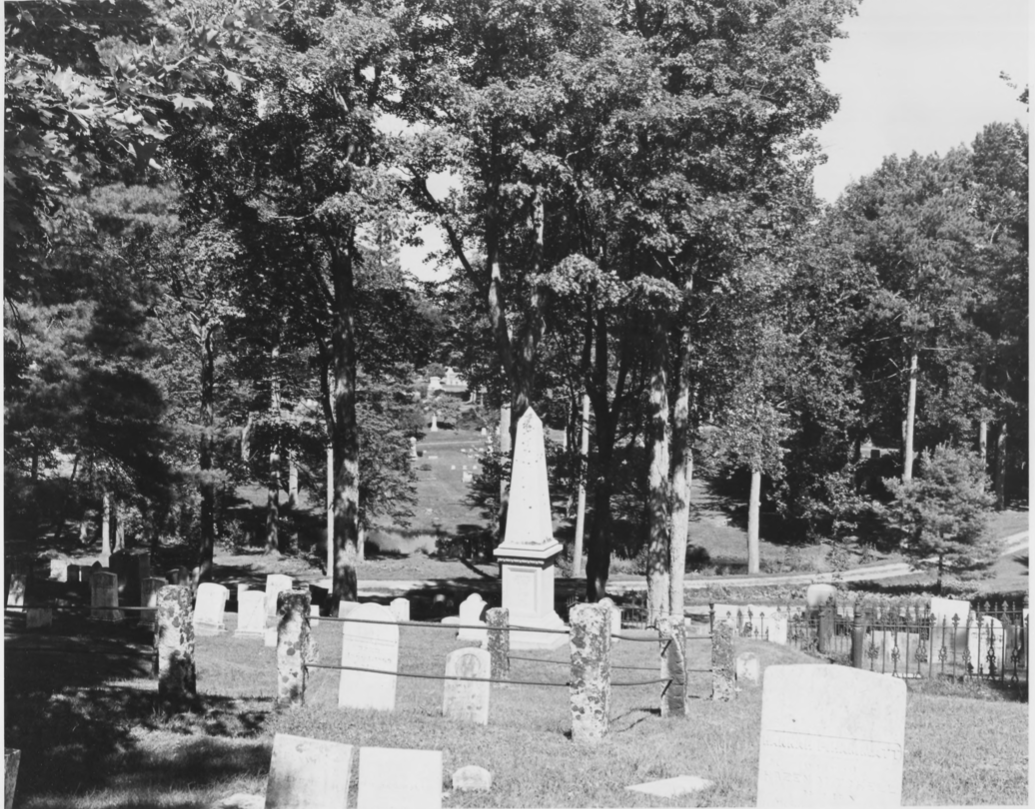 The Southeast Cemetery Grounds by Earle G. Shettleworth, Jr. on 8/20/74, Public Domain Photo Provided by NPS