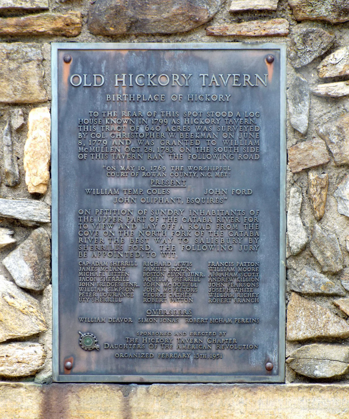 The plaque on the monument