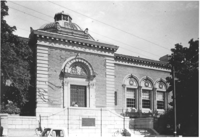 The Front of the Bangor Public Library by Gregory Clancey in October of 1983, Public Domain Photo Provided by NPS